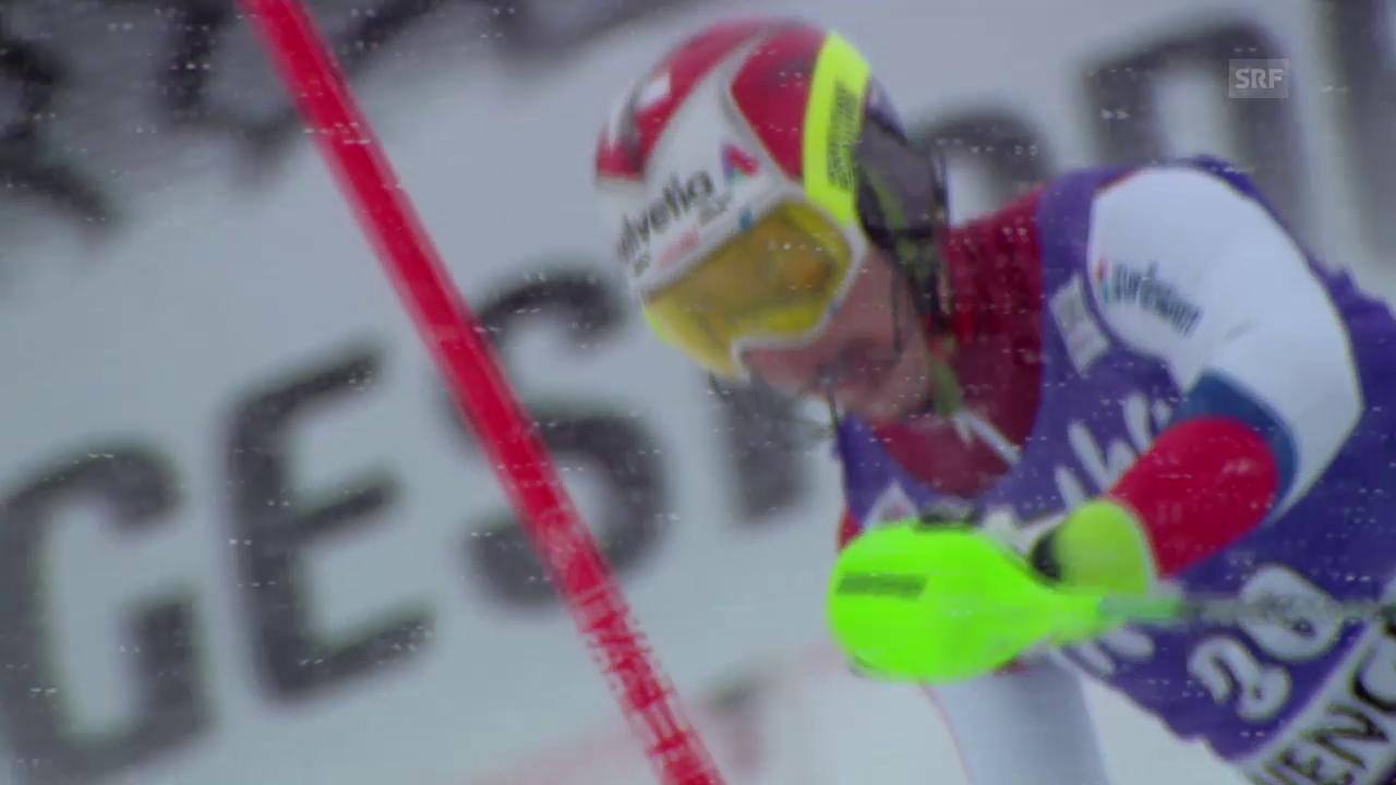 Ski alpin: Slalom Wengen, 2. Lauf von Aerni