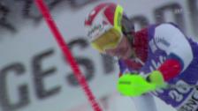 Video «Ski alpin: Slalom Wengen, 2. Lauf von Aerni» abspielen
