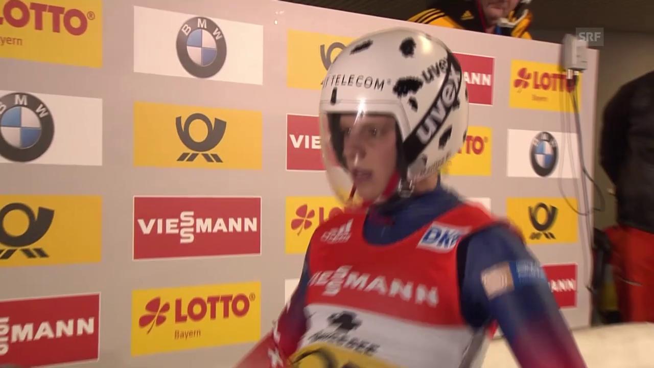 Martina Kocher rodelt zu WM-Silber
