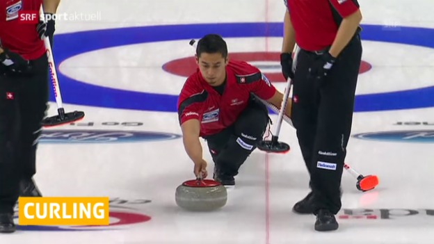 Video «Curling: WM Halifax, Schweiz - Finnland» abspielen