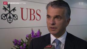 Video «UBS mit weniger Gewinn» abspielen