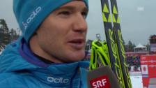 Video «Langlauf: WM 2015, 15 km Skating, Interview Dario Cologna» abspielen