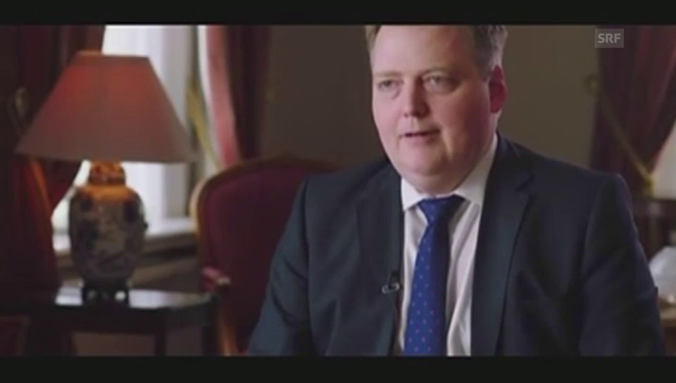 Islands Premierminister bricht Interview ab (Englisch)