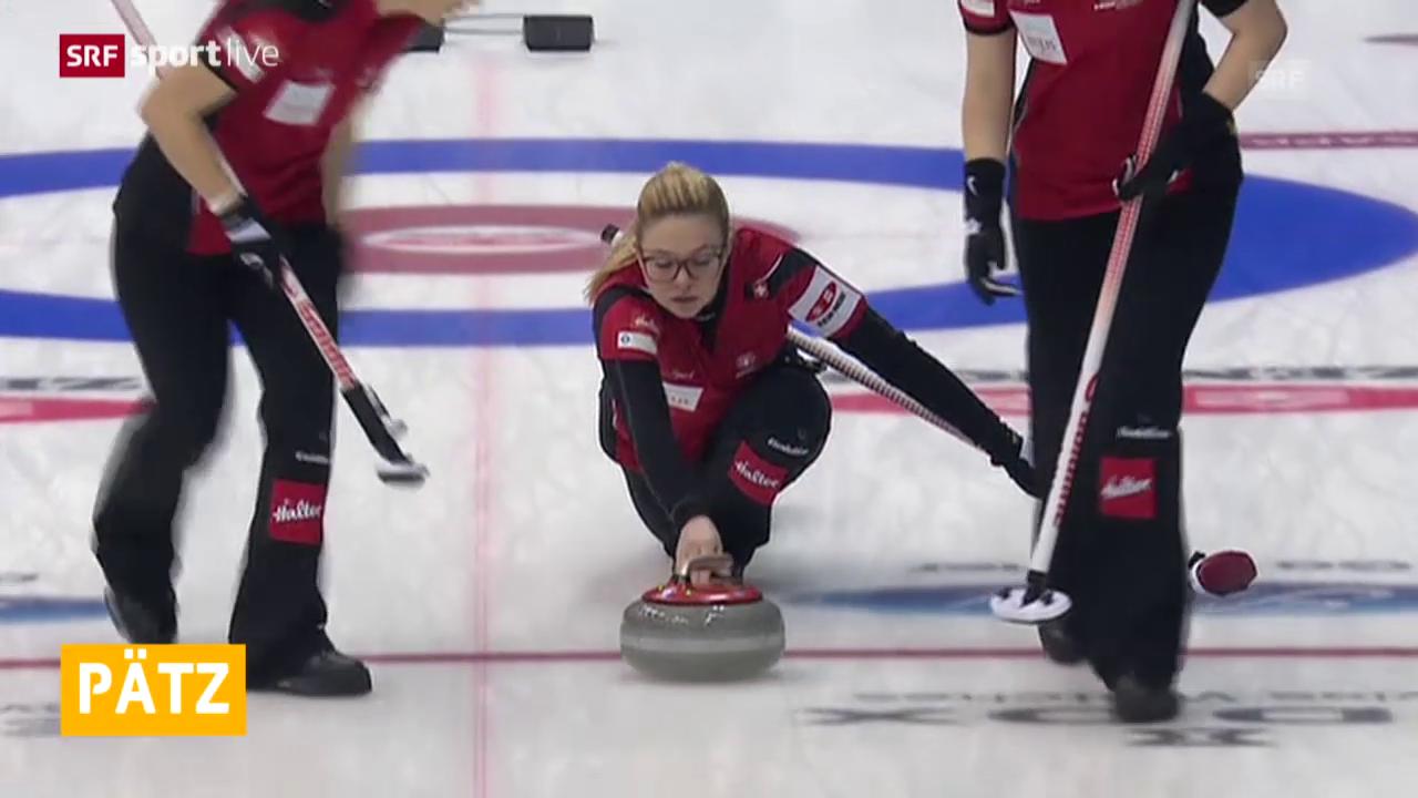 Curling: Frauen-WM in Sapporo, Round Robin, Schweiz - Kanada
