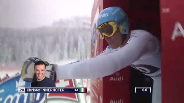Ski alpin: Abfahrt Garmisch, Fahrt Christof Innerhofer