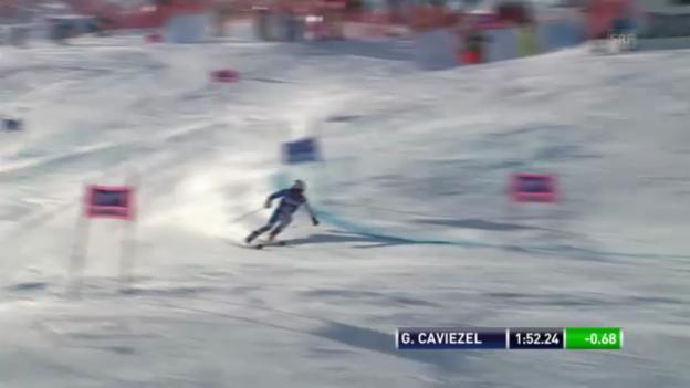 Video «Ski: 2. Lauf Gino Caviezel («sportlive»)» abspielen