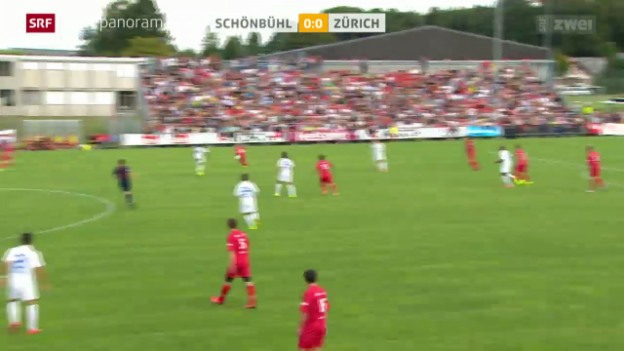 Video «Fussball, Schweizer Cup: Schönbühl unterliegt dem FCZ klar» abspielen