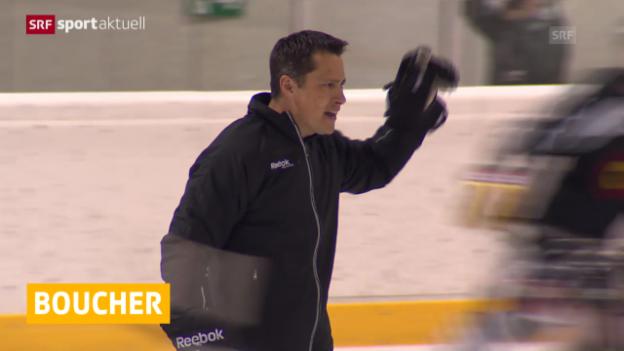 Video «Eishockey: Boucher betreut Team Canada («sportaktuell»)» abspielen