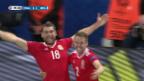 Video «Die Live-Highlights bei Wales - Belgien» abspielen