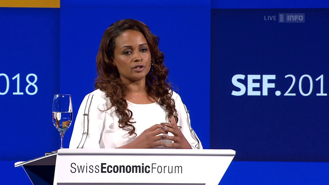 Bethlehem Tilahun Alemus Auftritt am Swiss Economic Forum 2018