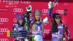 Video «Vonn feiert auf Abfahrt in Cortina 79. Weltcupsieg» abspielen