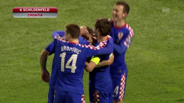 Video «Fussball: EM-Qualifikation, Gruppe H, Kroatien-Norwegen» abspielen