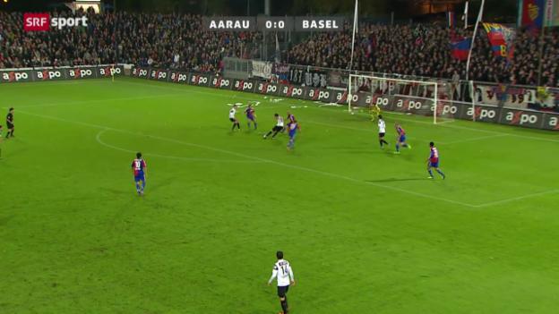Video «SL: Aarau - Basel» abspielen