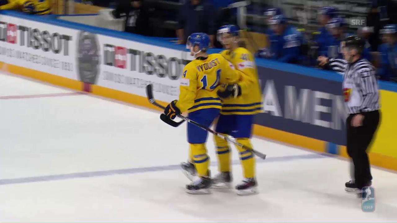 Schweden kantert an der WM Kasachstan nieder