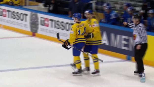 Video «Schweden kantert an der WM Kasachstan nieder» abspielen