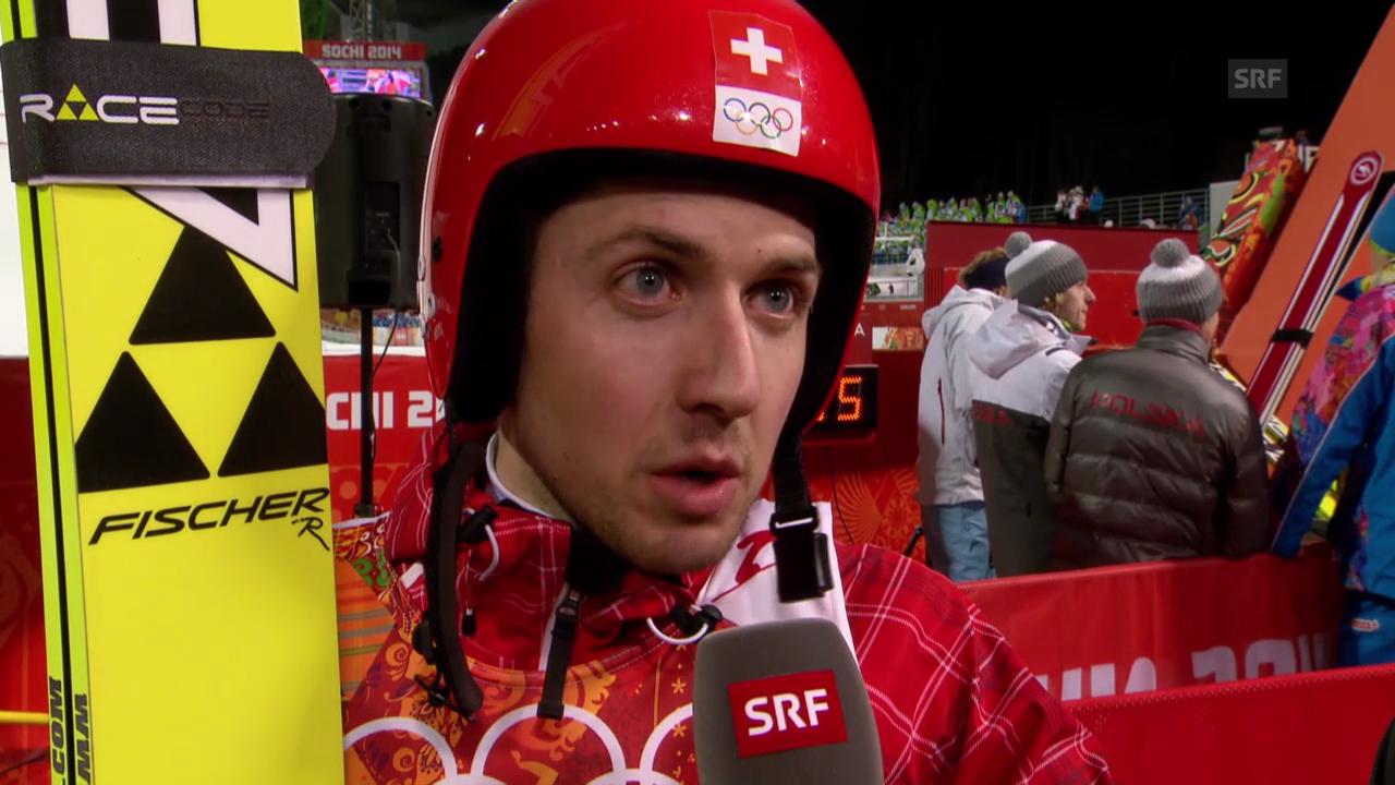 Skispringen: Interview mit Ammann (sotschi direkt, 9.2.14)