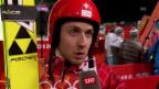 Video «Skispringen: Interview mit Ammann (sotschi direkt, 9.2.14)» abspielen