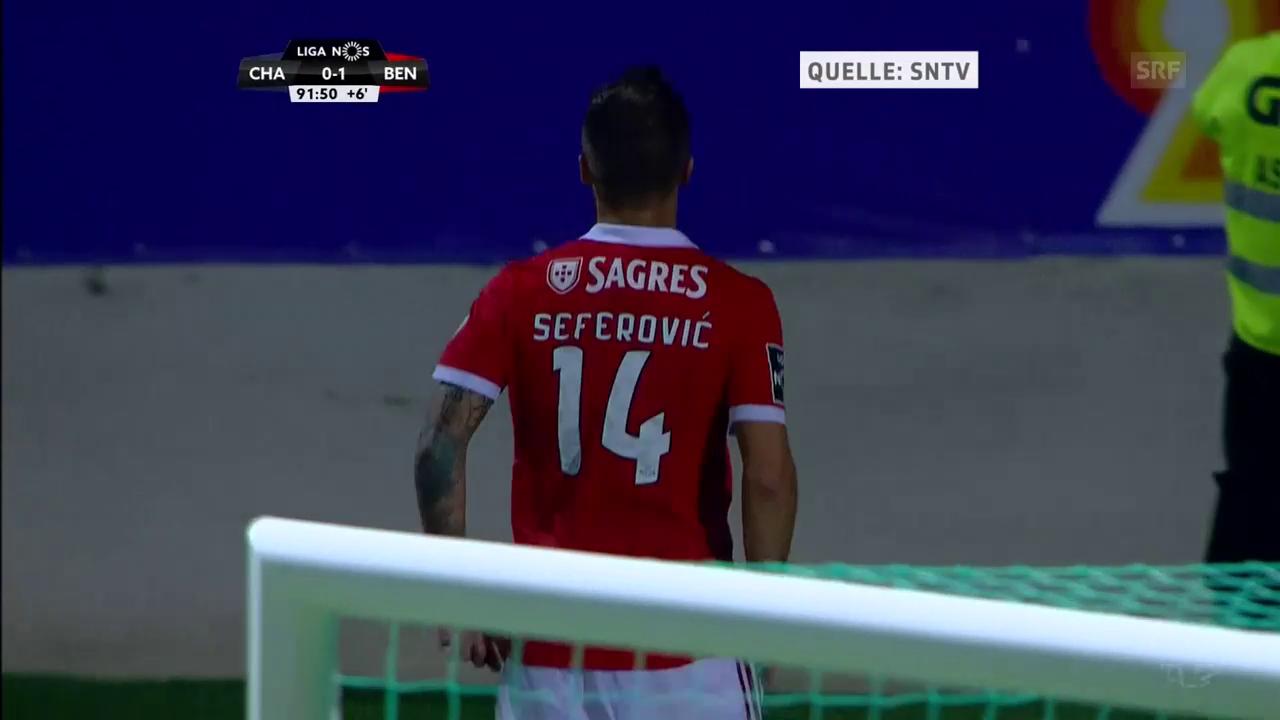 Das goldene Tor von Haris Seferovic bei Chaves - Benfica (0:1)