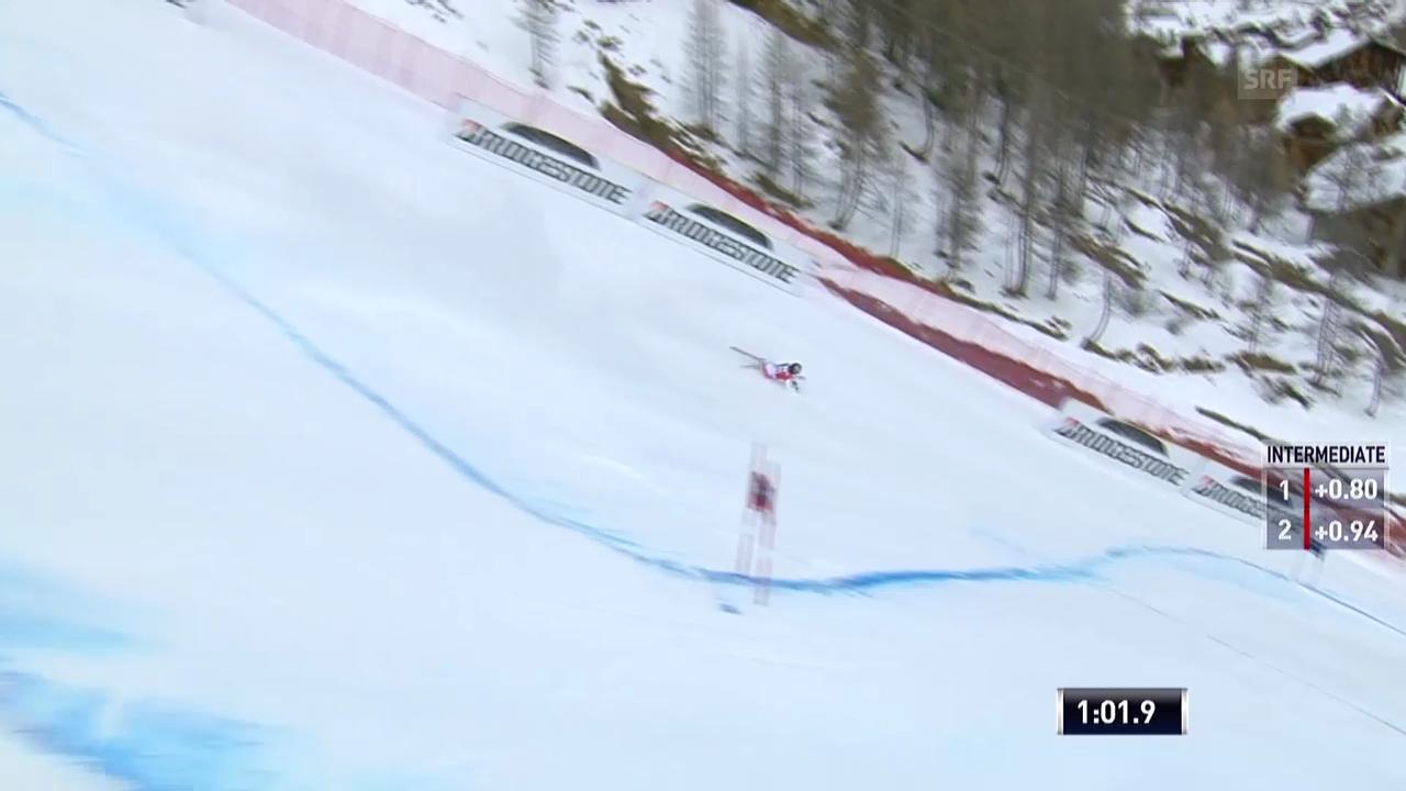 Ski alpin: Weltcup Männer, Riesenslalom Val d'Isère, Sturz Pleisch