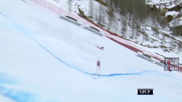 Video «Ski alpin: Weltcup Männer, Riesenslalom Val d'Isère, Sturz Pleisch» abspielen