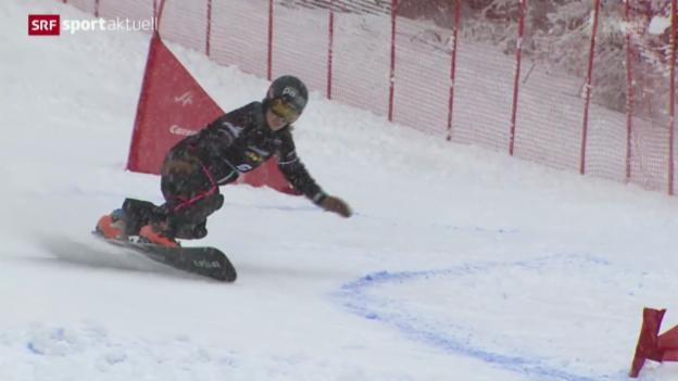 Video «Snowboard: Parallel-Riesenslalom in Carezza» abspielen