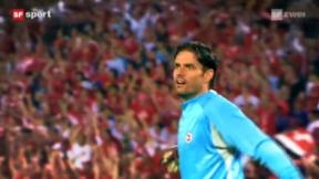 Video ««Tscheggsch de Pögg»: Wohin springen Fussballtorhüter?» abspielen