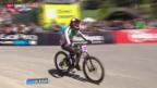 Video «Mountainbike: Das WM-Downhill-Rennen» abspielen