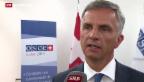 Video «Burkhalter verlangt Freilassung der OSZE-Geiseln» abspielen