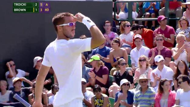 Video «Tennis: Wimbledon, Matchball Troicki» abspielen