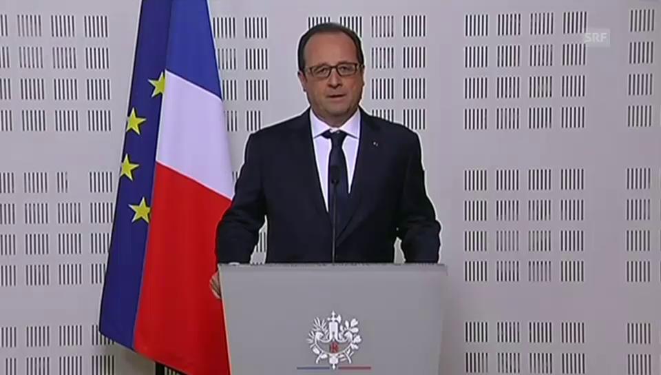 Staatspräsident François Hollande: «Es ist eine Tragödie.» (frz.)
