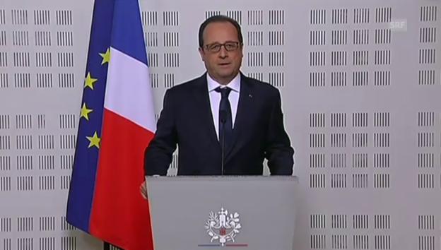 Video «Staatspräsident François Hollande: «Es ist eine Tragödie.» (frz.)» abspielen