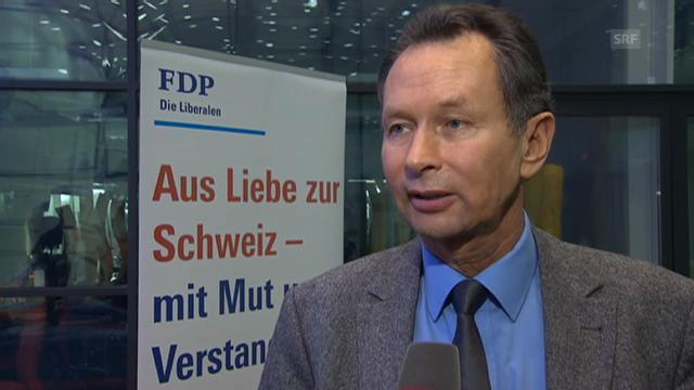 FDP-Präsident Philipp Müller zur Verkehrsinfrastruktur.
