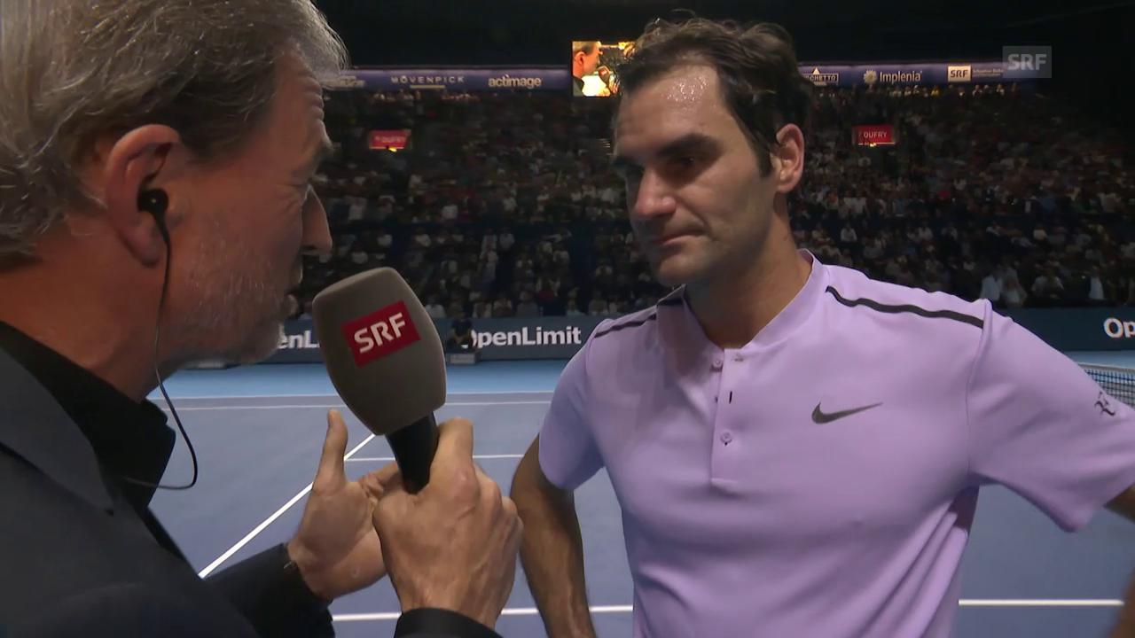 «Musste viel im Kopf arbeiten»: Federer im Platzinterview