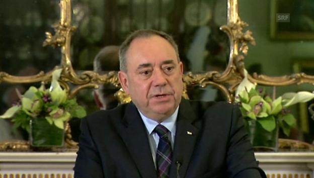 Video «Alex Salmond sieht Chance für Schottland» abspielen