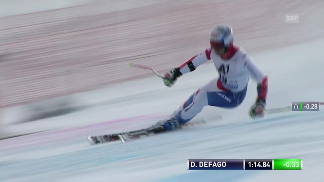 Ski alpin: 2. Lauf von Didier Défago («sportlive»)