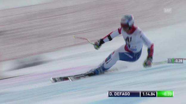 Video «Ski alpin: 2. Lauf von Didier Défago («sportlive»)» abspielen