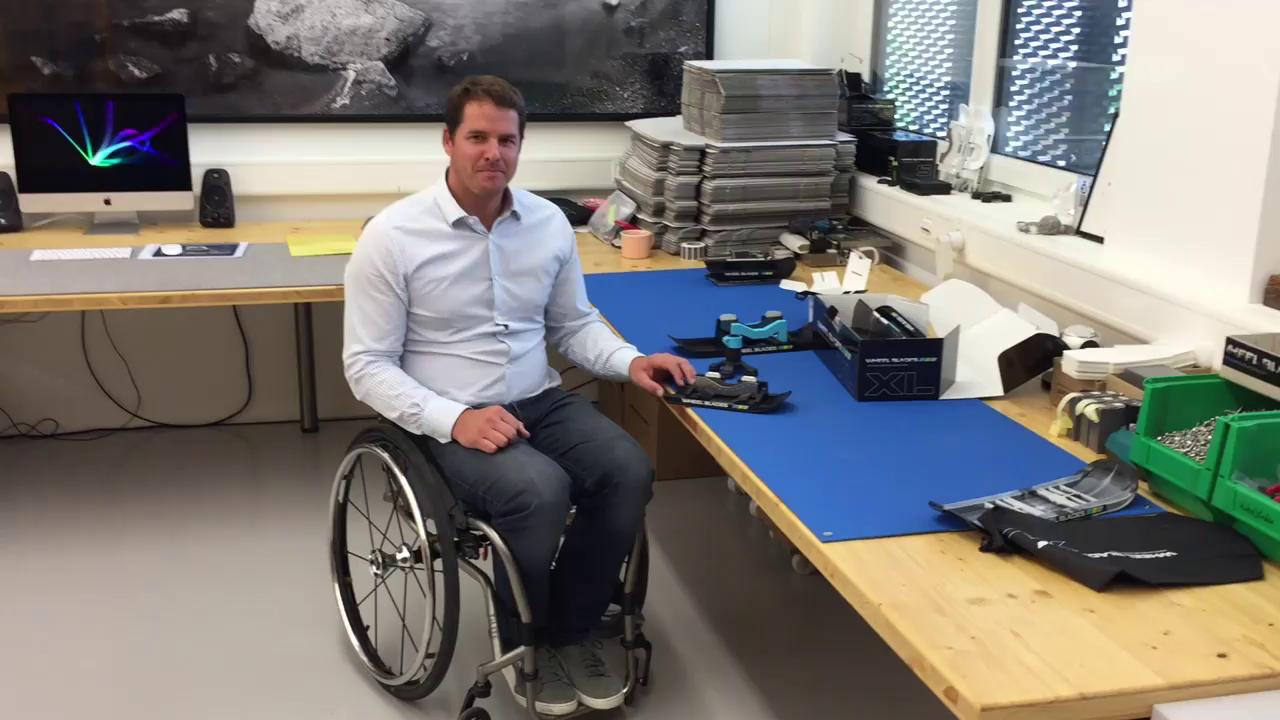 Die WheelBlades-Rollschuh-Kufen