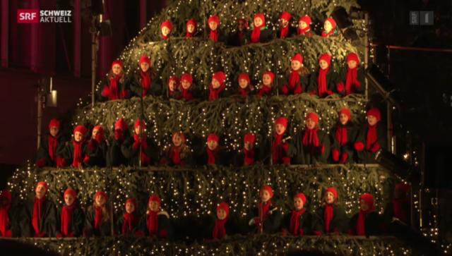 Singender weihnachtsbaum zurich 2019