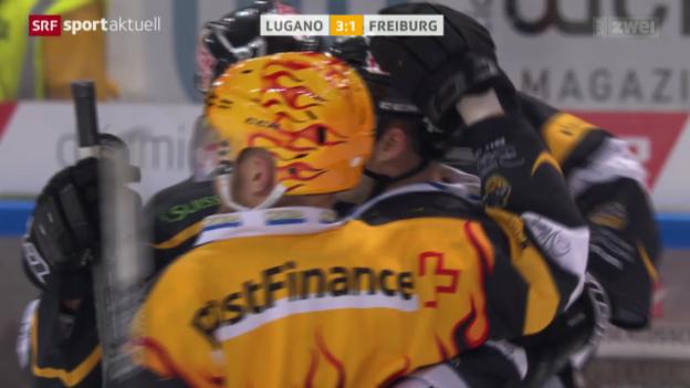 Video «Eishockey: NLA, Lugano - Freiburg» abspielen