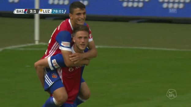 Video «Basel schlägt Luzern verdient» abspielen