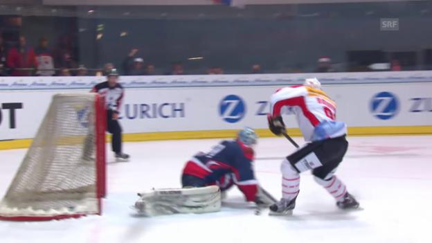 Video «Eishockey: Arosa Challenge, Damien Brunner verschiesst Penalty» abspielen