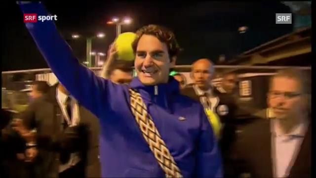 Federer an der Exhibition in Bogota («sportpanorma» 16.12.2012)
