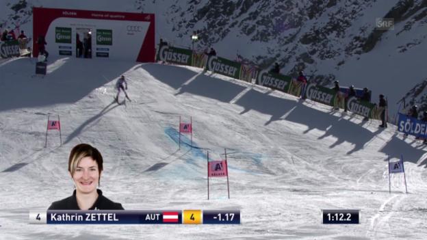 Video «Ski: Der 2. Lauf von Kathrin Zettel («sportlive»)» abspielen