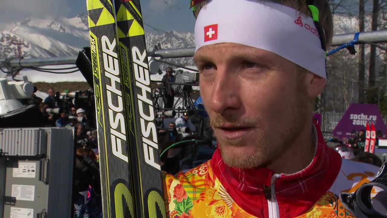 Langlauf: 4x10km Staffel Männer, Interview mit Remo Fischer (sotschi direkt, 16.2.2014)
