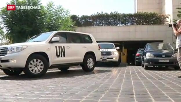 Video «UNO-Experten am Ort des möglichen Giftgasanschlags» abspielen