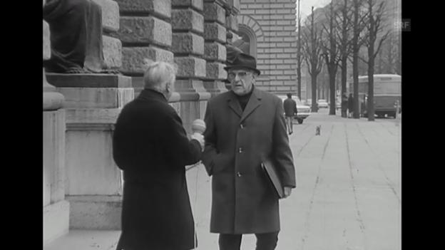 Video «Nationalrat Alfred Rasser (Rendez-vous, 17.3.1968)» abspielen