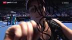 Video «Tennis: Starke Bencic steht in der 3. Runde» abspielen