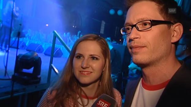 Video «Sarah Breiter und Christoph Jakob über ihren Auftritts-Marathon» abspielen