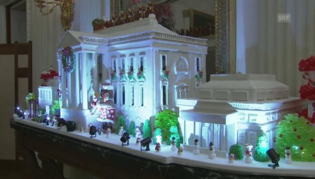 Video «Weihnachten im Hause Obama» abspielen