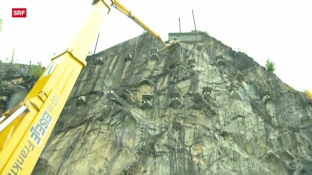 Video «Felsarbeiten am Lopper» abspielen